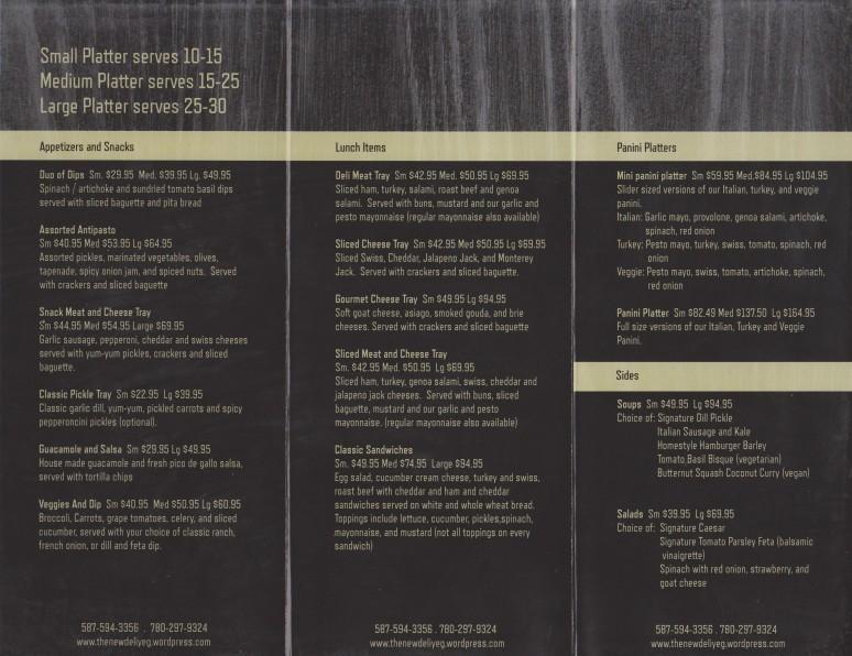 Catering menu 001